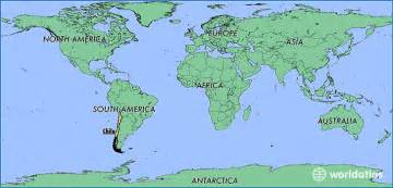 Chile On World Map by Where Is Chile Where Is Chile Located In The World