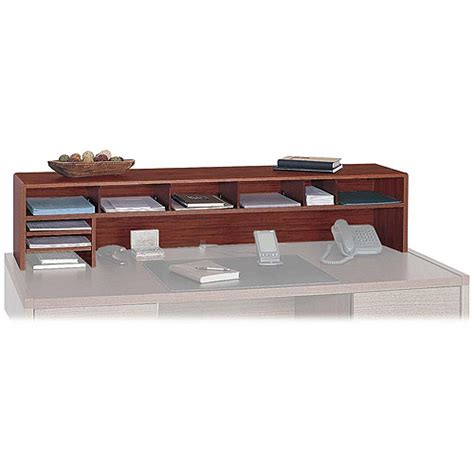 safco products company desktop organizer wood 9