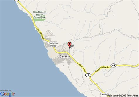 map of cambria california map of creekside inn cambria