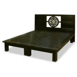Tall Black End Table Furniture Minimalist King Size Japanese Style Floating