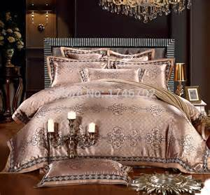 Gold Bedding Sets King Size Luxury Jacquard Comforter Bedding Sets Gold Duvet Cover
