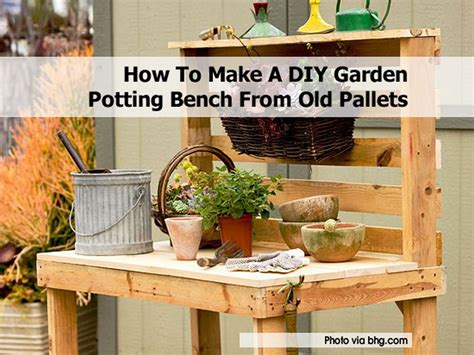 how to make a bench from pallets how to make a diy garden potting bench from old pallets