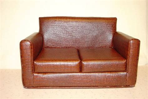 american doll furniture sofa faux leather
