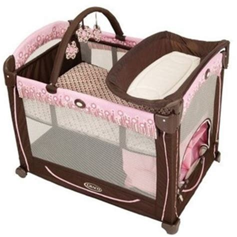 Pink And Brown Graco Pack N Play With Changing Table Graco Element Pack N Play Playard Melanie Baby Polyvore
