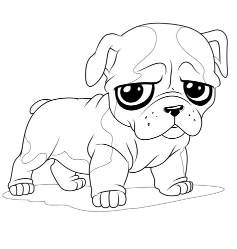 Coloring Pages Of Bulldog Puppies | newborn puppy coloring pages to print cute coloring