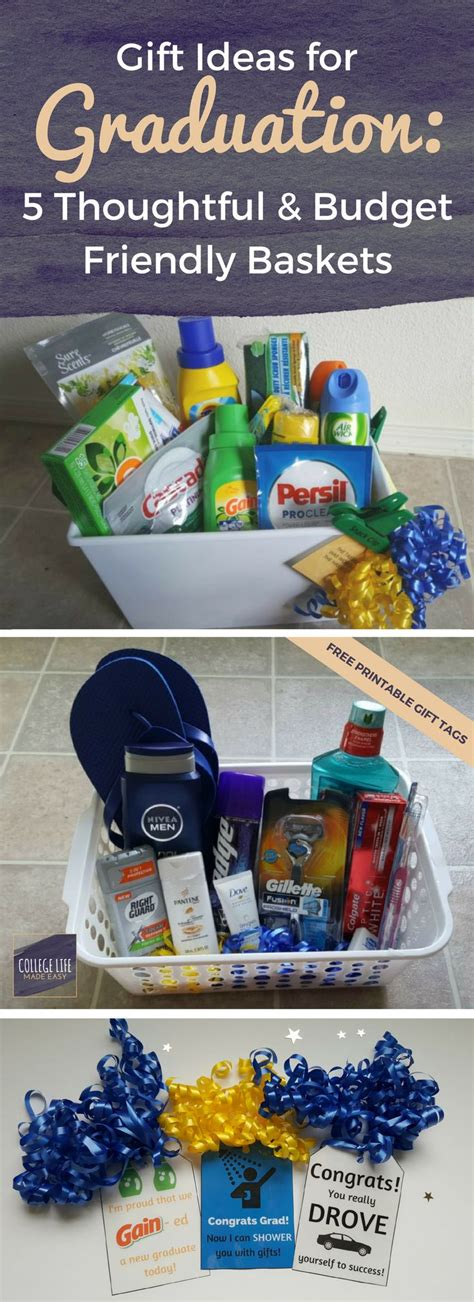 high school boy christmas gift ideas for graduation 5 thoughtful budget friendly baskets college graduation gifts