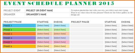 event schedule template authorization letter pdf