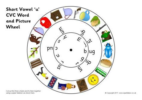 Short Vowel 'u' CVC Word and Picture Wheels (SB12156 ... A-paper