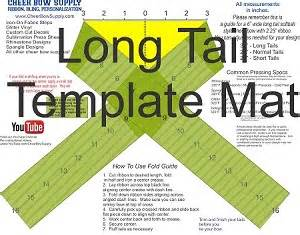 diy cheer bow long tail softball cheer bow template mat