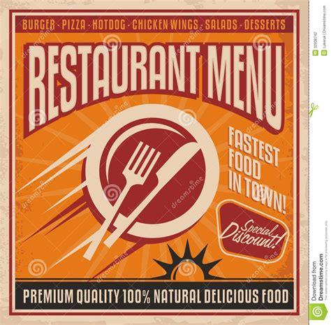 affiche cuisine retro r 233 tro calibre d affiche pour le restaurant d aliments de