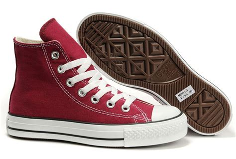 Sepatu Converse All Clasic Size 37 43 converse all chuck high tops classic canvas sneakers maroon t2013052201