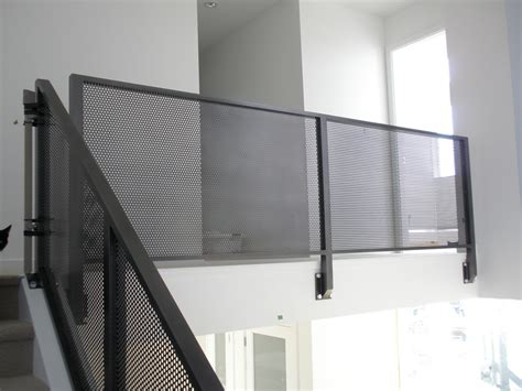 banister netting mesh aluminum interior railing metal railings metals