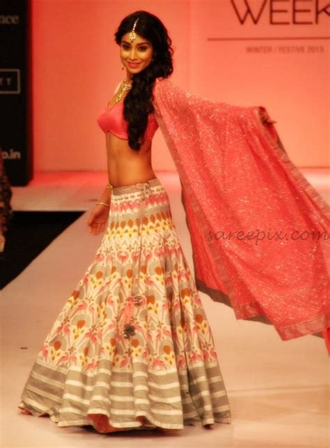 At Lfw by Shriya Saran Lehenga R Walk At Lfw Winter Festive 2013
