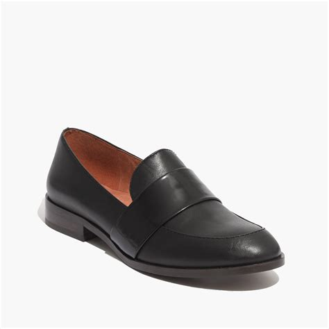 madewell loafers lyst madewell the elin loafer in black