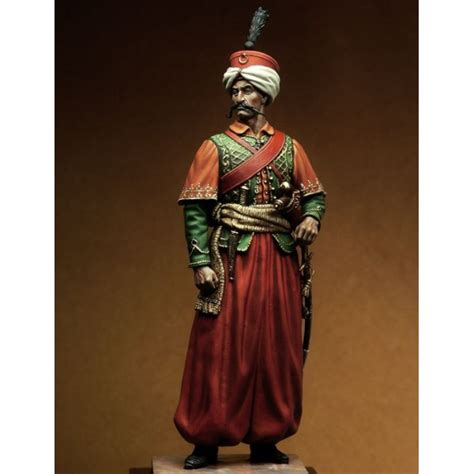 Officier Ottoman by Mamluk Officer 1805 Girona White Metal Figures