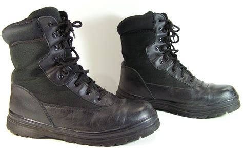 mens grunge boots vintage combat boots mens 9 5 d black leather by moivintage