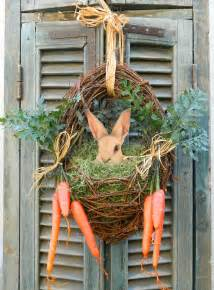 door wreath easter wreath bunny easter front door