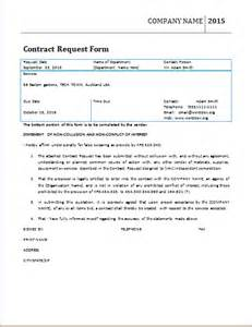 Contract Request Form Template word official contract request form template word