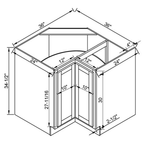 kitchen base cabinet dimensions