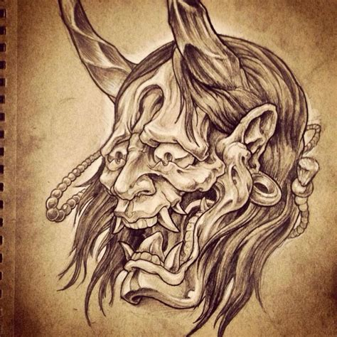 oni mask tattoo designs 274 best images about hannya mask on japanese