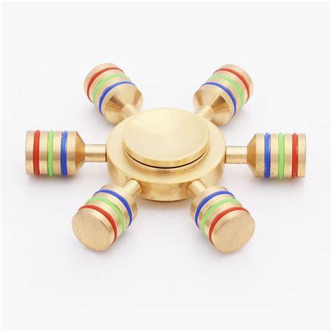 Fidget Spinner Toys brass 6 axis spinner fidget s1
