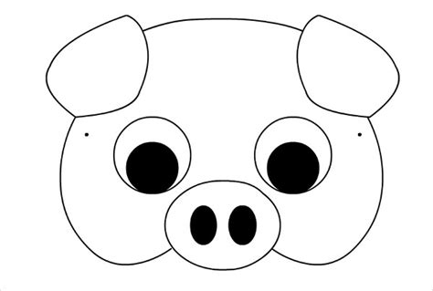 Pig Mask Template 7 printable mask template free sle exle format