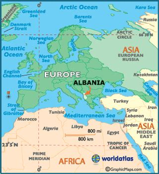 albania map / geography of albania / map of albania
