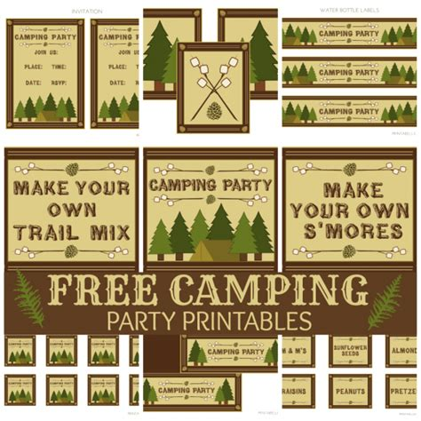 camp out invitations printable free free camping party printables from printabelle party