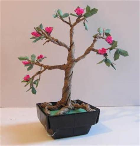 Origami Bonsai - make an origami bonsai tree