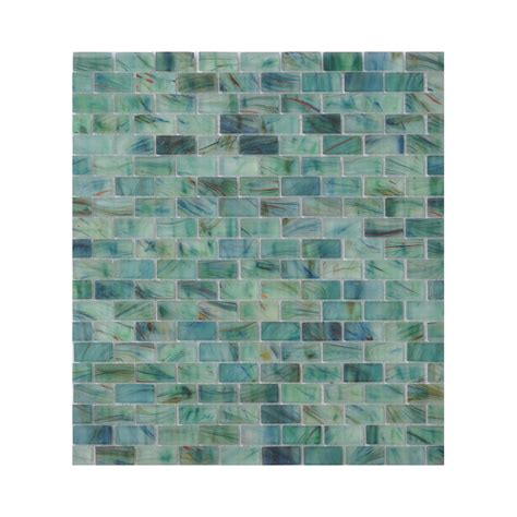 sea glass mosaic tile bathroom enlarged image