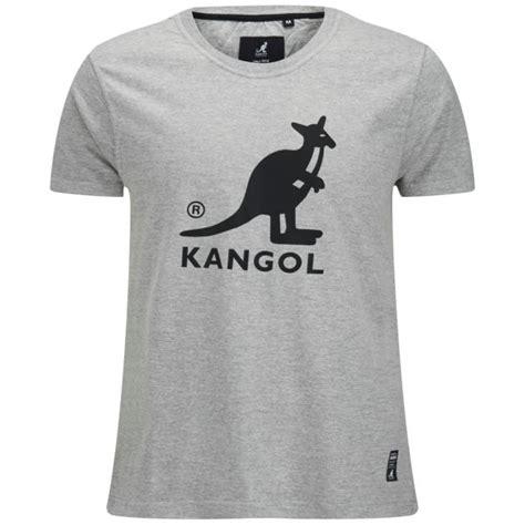 kangol s bando printed t shirt grey marl clothing zavvi
