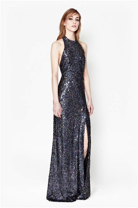 Lv New Maxi lunar sparkle sequin maxi dress collections