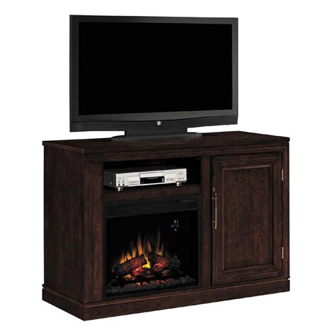 classic partytime tv console with electric fireplace