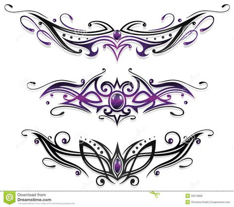 tattoos tribals gems stock photo image 33575860