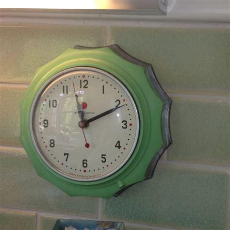 green kitchen clocks jadeite green kitchen clock by ge c 1940s vintage