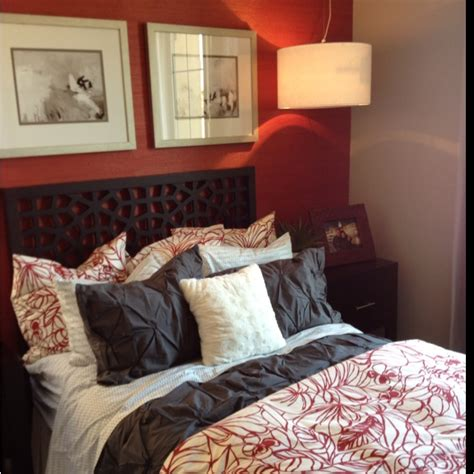 brown and red bedroom master bedroom red gray brown for the home pinterest
