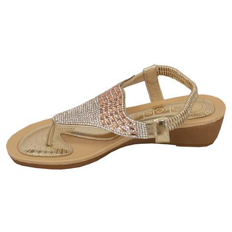 Toe Slip On Casual Shoes sandals kelsi womens diamante slip on toe post