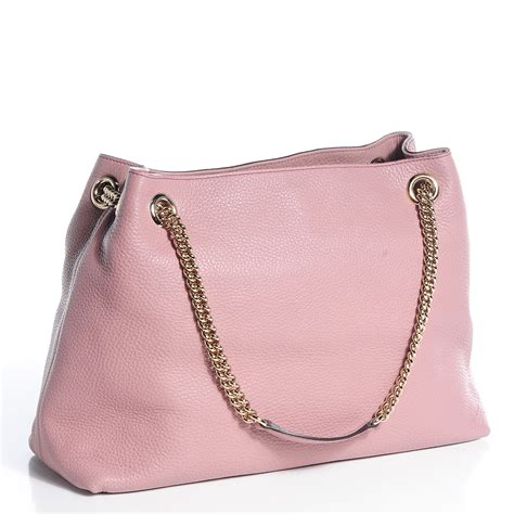 Cccnkkk Pink Chain Leather 100 Authentic gucci leather medium soho chain shoulder bag light pink 80812