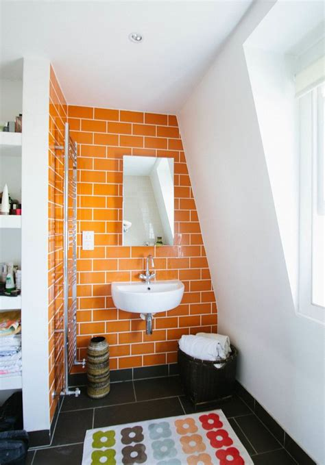 orange bathroom walls best 25 orange bathrooms ideas on pinterest orange
