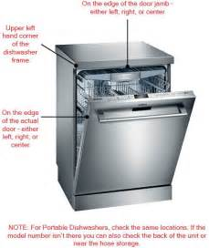 Kitchenaid Refrigerator Parts Near Me Locating The Model Number On A Dishwasher Reliable Parts