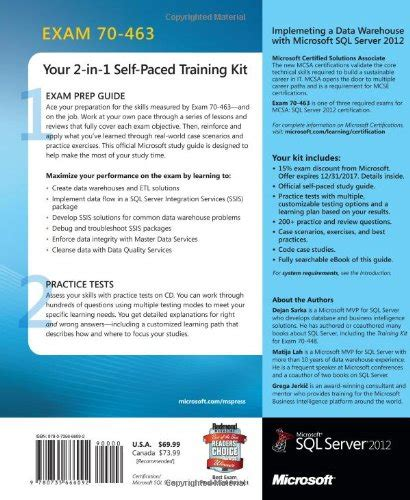 mcsa sql 2016 bi development ref 2 pack refs 70 767 and 70 768 books kit 70 463 implementing a data warehouse