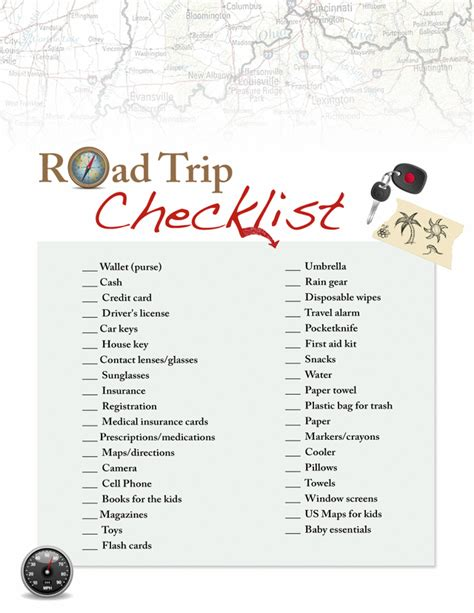 printable road trip checklist free letter templates from santa for kids new calendar