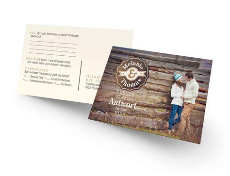 Hochzeitseinladung Postkarte by Antwortkarte Mit Foto Sch 246 Ner Einladen Aus Liebe