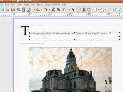 tutorial scribus youtube tutorial overview of scribus creating a pdf document