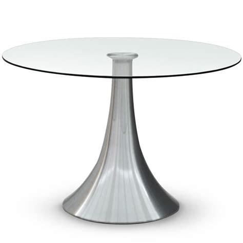 table de s 233 jour ronde en verre tassia lestendances fr