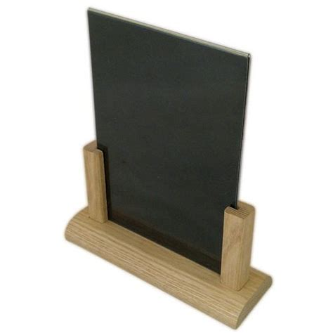 a5 menu holder with chalkboard insert
