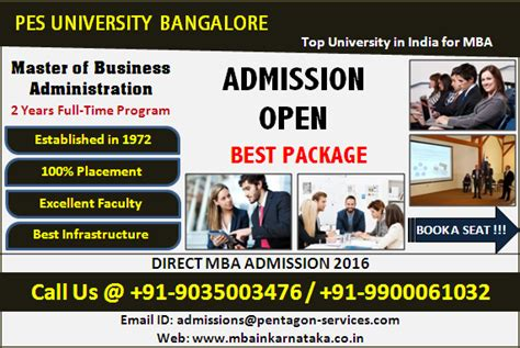 Mba Marketing In Bangalore For Experienced by Pes Bangalore Top In India For Mba