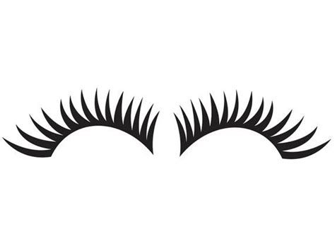 Printable Eyelash Stencils   headlight eyelash set 1 vinyl decal veh ml6 5