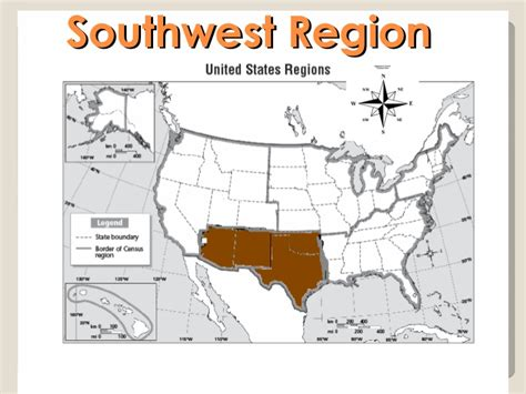 united states southwest region map us geography powerpoint