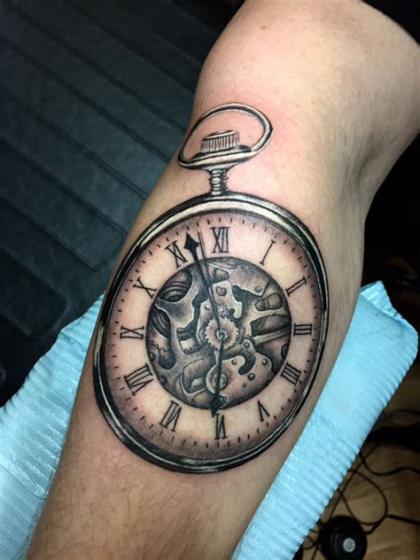 pocket watch tattoos designs pocket by mello my